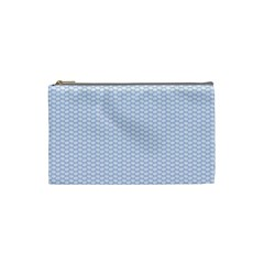 Alice Blue White Kisses in English Country Garden Cosmetic Bag (Small)