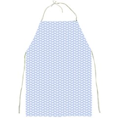 Alice Blue White Kisses In English Country Garden Full Print Aprons