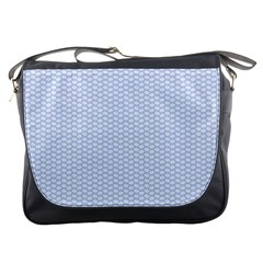 Alice Blue White Kisses in English Country Garden Messenger Bags