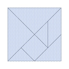 Alice Blue White Kisses in English Country Garden Acrylic Tangram Puzzle (6  x 6 )
