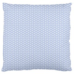 Alice Blue White Kisses in English Country Garden Large Cushion Case (Two Sides)