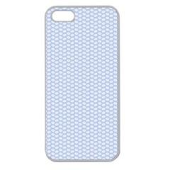 Alice Blue White Kisses in English Country Garden Apple Seamless iPhone 5 Case (Clear)