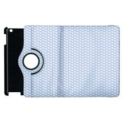 Alice Blue White Kisses in English Country Garden Apple iPad 2 Flip 360 Case