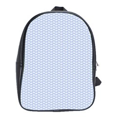 Alice Blue White Kisses in English Country Garden School Bags (XL)