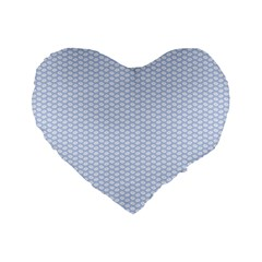 Alice Blue White Kisses in English Country Garden Standard 16  Premium Heart Shape Cushions