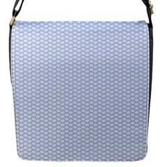 Alice Blue White Kisses in English Country Garden Flap Messenger Bag (S)