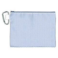 Alice Blue White Kisses In English Country Garden Canvas Cosmetic Bag (xxl)