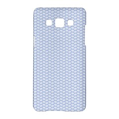 Alice Blue White Kisses in English Country Garden Samsung Galaxy A5 Hardshell Case