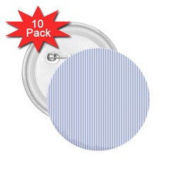 Alice Blue Pinstripe in an English Country Garden 2.25  Buttons (10 pack)