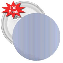 Alice Blue Pinstripe in an English Country Garden 3  Buttons (100 pack)