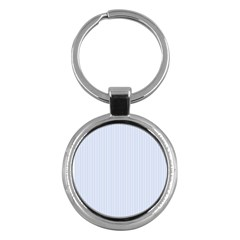 Alice Blue Pinstripe in an English Country Garden Key Chains (Round)