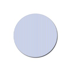 Alice Blue Pinstripe in an English Country Garden Rubber Coaster (Round)