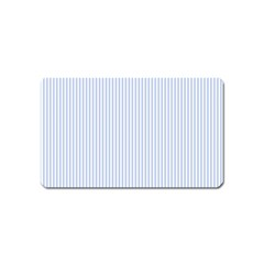 Alice Blue Pinstripe in an English Country Garden Magnet (Name Card)