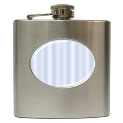 Alice Blue Pinstripe in an English Country Garden Hip Flask (6 oz)