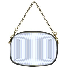Alice Blue Pinstripe in an English Country Garden Chain Purses (One Side)