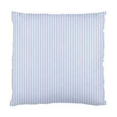 Alice Blue Pinstripe in an English Country Garden Standard Cushion Case (Two Sides)
