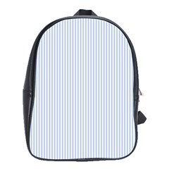 Alice Blue Pinstripe in an English Country Garden School Bags(Large)