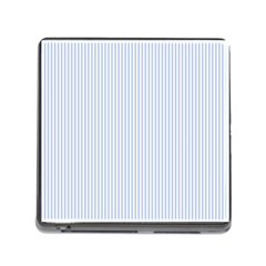 Alice Blue Pinstripe in an English Country Garden Memory Card Reader (Square)