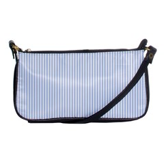 Alice Blue Pinstripe in an English Country Garden Shoulder Clutch Bags