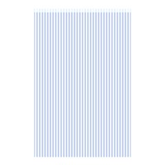 Alice Blue Pinstripe in an English Country Garden Shower Curtain 48  x 72  (Small)