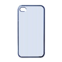 Alice Blue Pinstripe in an English Country Garden Apple iPhone 4 Case (Black)