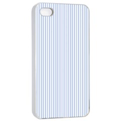 Alice Blue Pinstripe in an English Country Garden Apple iPhone 4/4s Seamless Case (White)