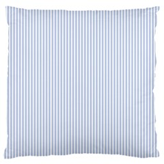 Alice Blue Pinstripe In An English Country Garden Large Cushion Case (two Sides)