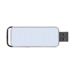 Alice Blue Pinstripe in an English Country Garden Portable USB Flash (Two Sides)