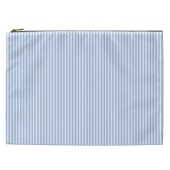 Alice Blue Pinstripe In An English Country Garden Cosmetic Bag (xxl)