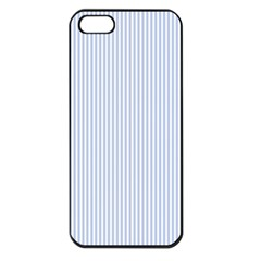 Alice Blue Pinstripe in an English Country Garden Apple iPhone 5 Seamless Case (Black)