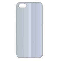 Alice Blue Pinstripe in an English Country Garden Apple Seamless iPhone 5 Case (Clear)
