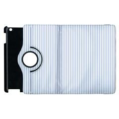Alice Blue Pinstripe in an English Country Garden Apple iPad 3/4 Flip 360 Case