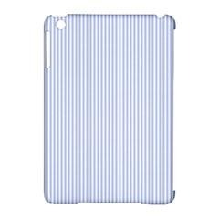 Alice Blue Pinstripe in an English Country Garden Apple iPad Mini Hardshell Case (Compatible with Smart Cover)