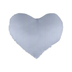 Alice Blue Pinstripe in an English Country Garden Standard 16  Premium Heart Shape Cushions