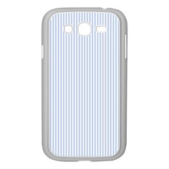Alice Blue Pinstripe in an English Country Garden Samsung Galaxy Grand DUOS I9082 Case (White)