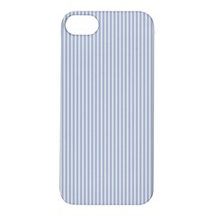 Alice Blue Pinstripe in an English Country Garden Apple iPhone 5S/ SE Hardshell Case