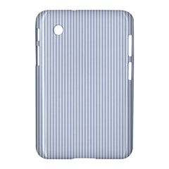 Alice Blue Pinstripe in an English Country Garden Samsung Galaxy Tab 2 (7 ) P3100 Hardshell Case