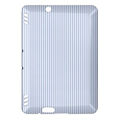 Alice Blue Pinstripe In An English Country Garden Kindle Fire Hdx Hardshell Case