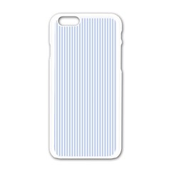 Alice Blue Pinstripe in an English Country Garden Apple iPhone 6/6S White Enamel Case
