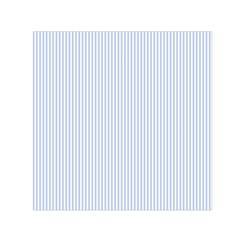 Alice Blue Pinstripe in an English Country Garden Small Satin Scarf (Square)