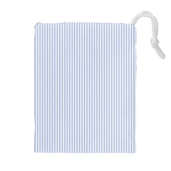 Alice Blue Pinstripe in an English Country Garden Drawstring Pouches (Extra Large)