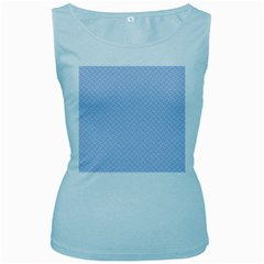 Alice Blue Mini Footpath in English Country Garden  Women s Baby Blue Tank Top