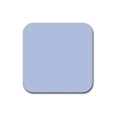 Alice Blue Mini Footpath in English Country Garden  Rubber Coaster (Square)
