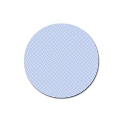 Alice Blue Mini Footpath in English Country Garden  Magnet 3  (Round)