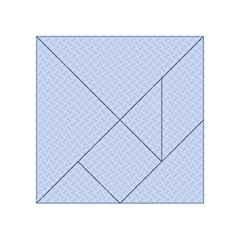 Alice Blue Mini Footpath in English Country Garden  Acrylic Tangram Puzzle (4  x 4 )