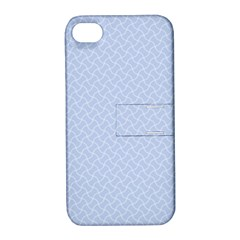 Alice Blue Mini Footpath In English Country Garden  Apple Iphone 4/4s Hardshell Case With Stand