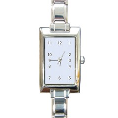 Alice Blue Houndstooth in English Country Garden Rectangle Italian Charm Watch