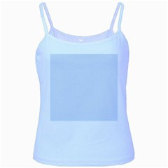 Alice Blue Houndstooth in English Country Garden Baby Blue Spaghetti Tank