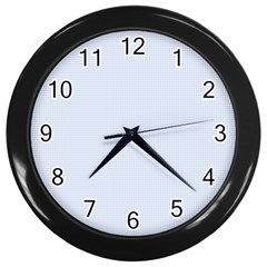 Alice Blue Houndstooth in English Country Garden Wall Clocks (Black)