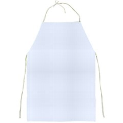 Alice Blue Houndstooth in English Country Garden Full Print Aprons